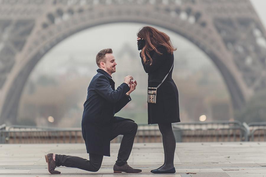 Demande en mariage à Paris 2
