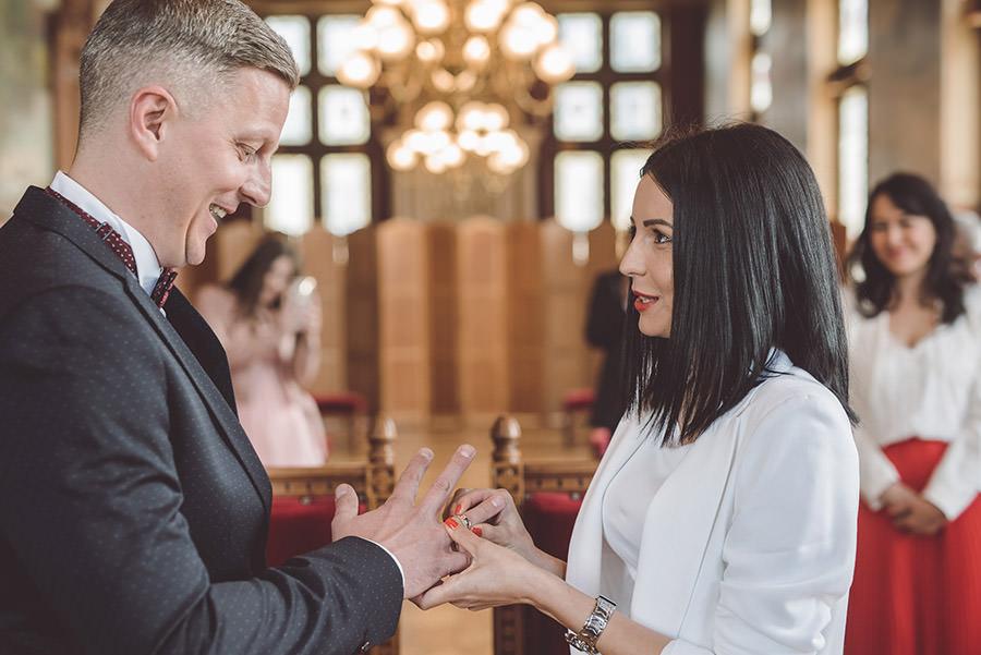 les alliances au mariage