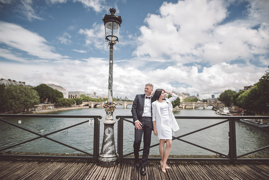 photos de couple au ponts des arts