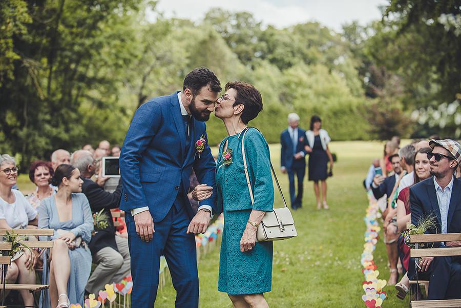 mariage au château de Flixecourt, la maman du mariée