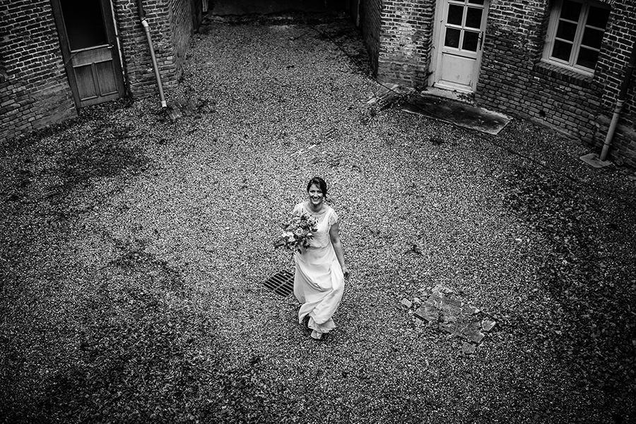 la mariée dan sla rotonde du château de flixecourt