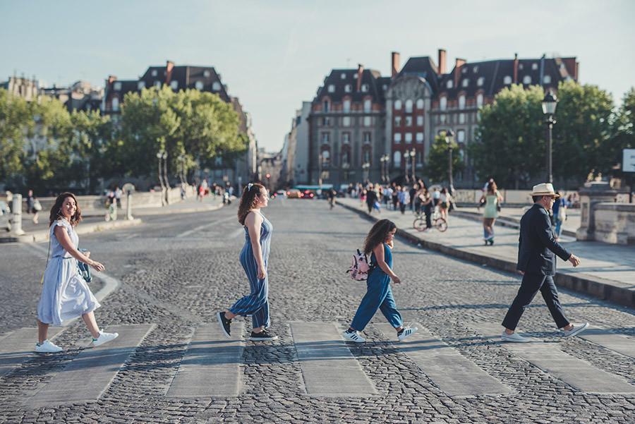 traversé de la rue comme les Beatles