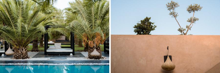 Mariage à Marrakech, palmiers et piscine 2
