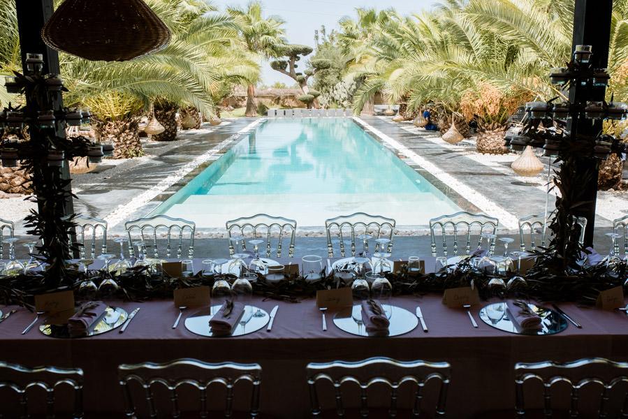Mariage à Marrakech, palmiers et piscine 12