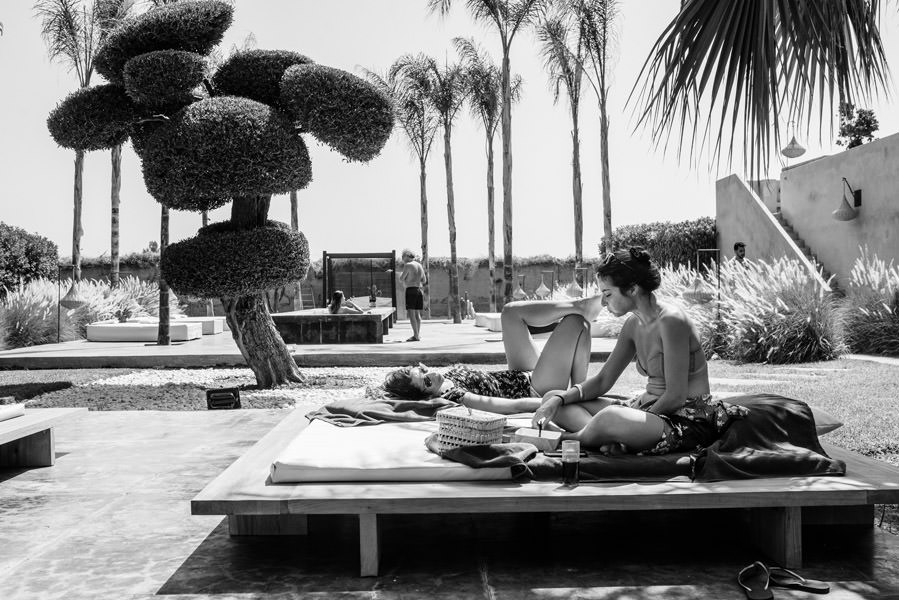 Mariage à Marrakech, palmiers et piscine 11