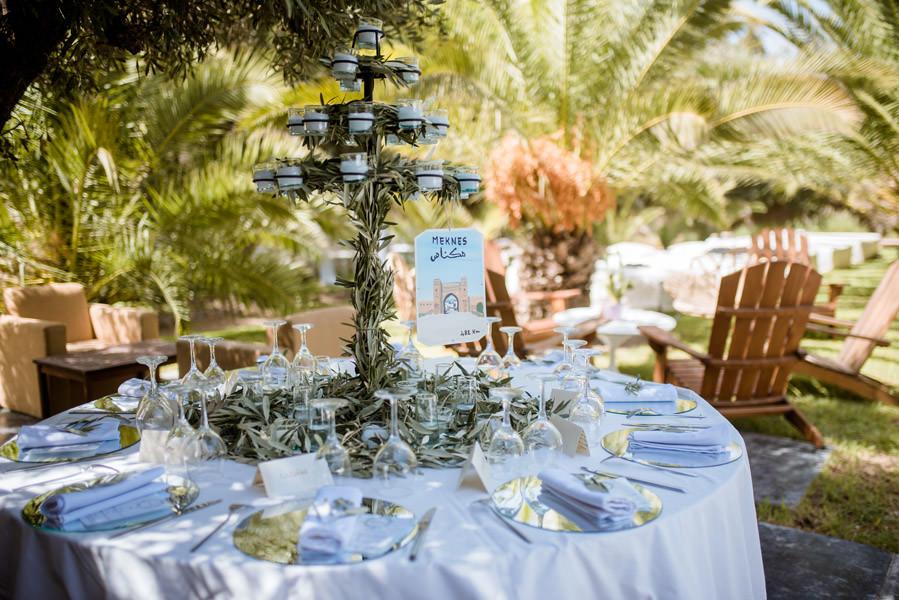 Mariage à Marrakech, palmiers et piscine 15