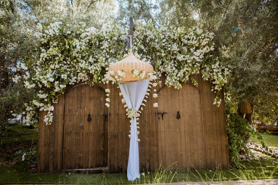 Mariage à Marrakech, palmiers et piscine 14