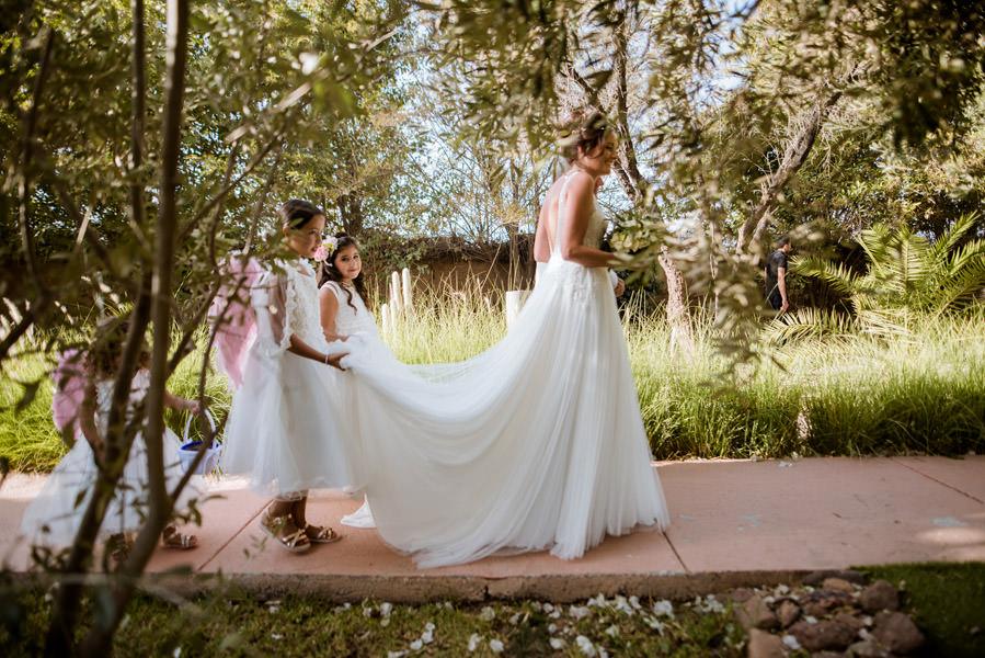 Mariage à Marrakech, palmiers et piscine