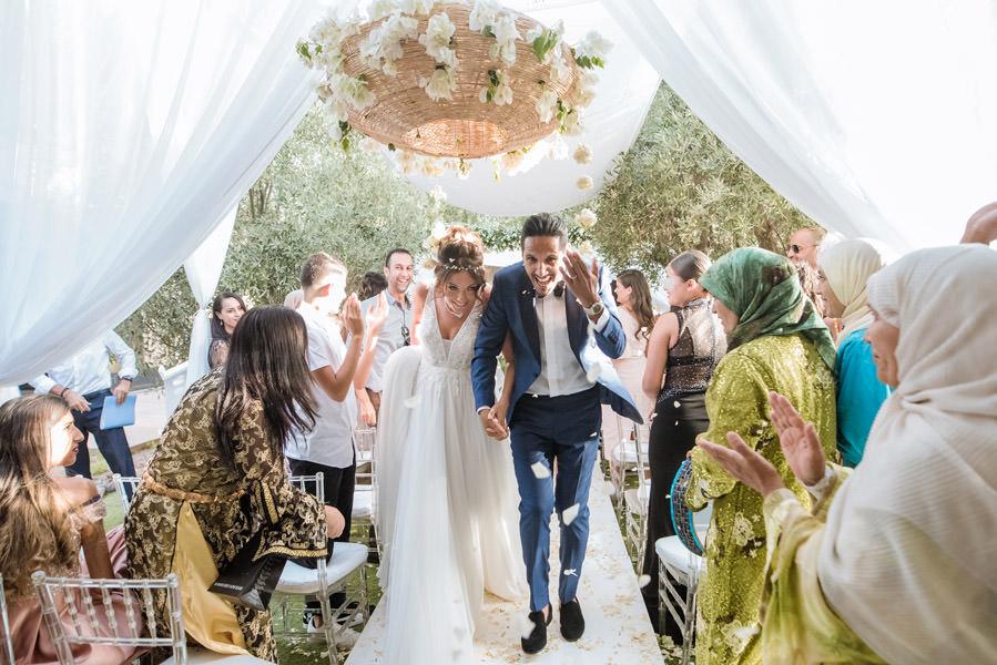 Mariage à Marrakech, palmiers et piscine 53