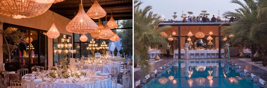 Mariage à Marrakech, palmiers et piscine 67