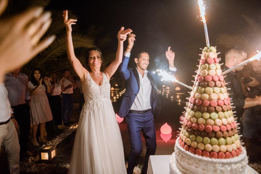 Mariage à Marrakech, palmiers et piscine 79