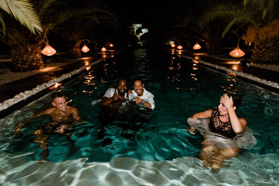 Mariage à Marrakech, palmiers et piscine 91