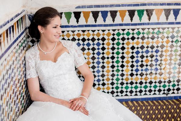 la mariée dans la Medina