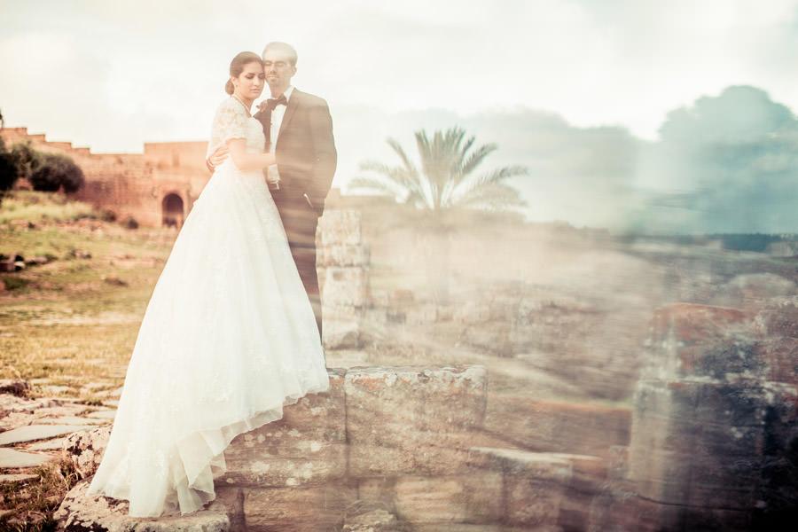 photos de couple dans les ruines
