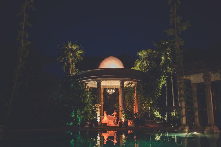 petite danse des mariés au palais Rhoul, Marrakech, Maroc