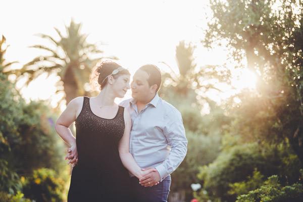 le couple dans les jardins du four season resort Marrakech
