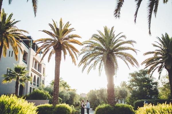 la superbe vue des jardins du four season resort Marrakech