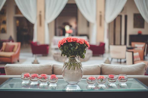 jolie décoration du four season resort Marrakech