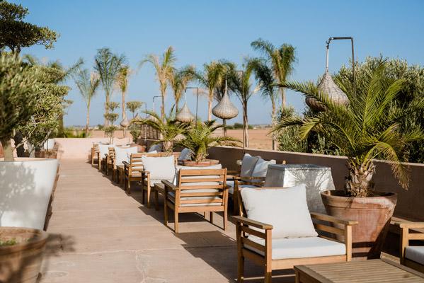 la terrasse du mariage au riad taj omayma, marrakech