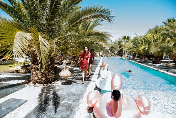 la grande piscine du riad taj omayma, marrakech