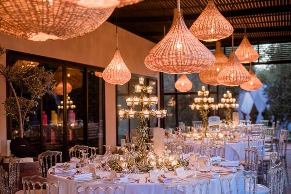 tables de repas de mariage au riad taj omayma, marrakech