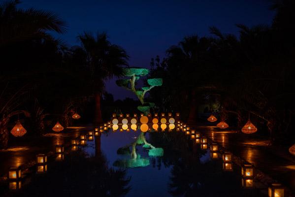la vue depuis le repas de mariage riad taj omayma, marrakech