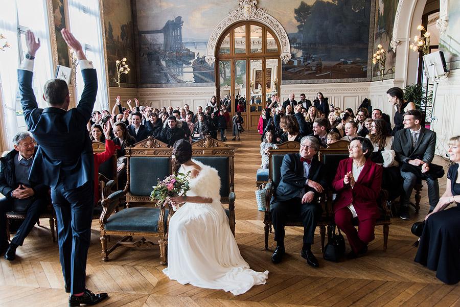 Mariage d'hiver à Paris 8