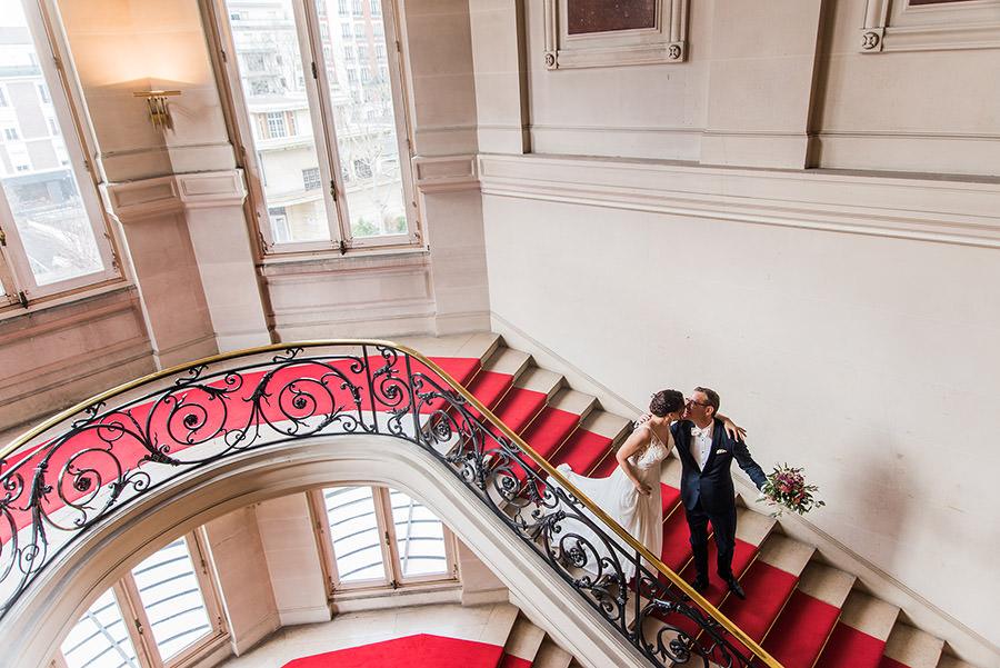 Mariage d'hiver à Paris 16