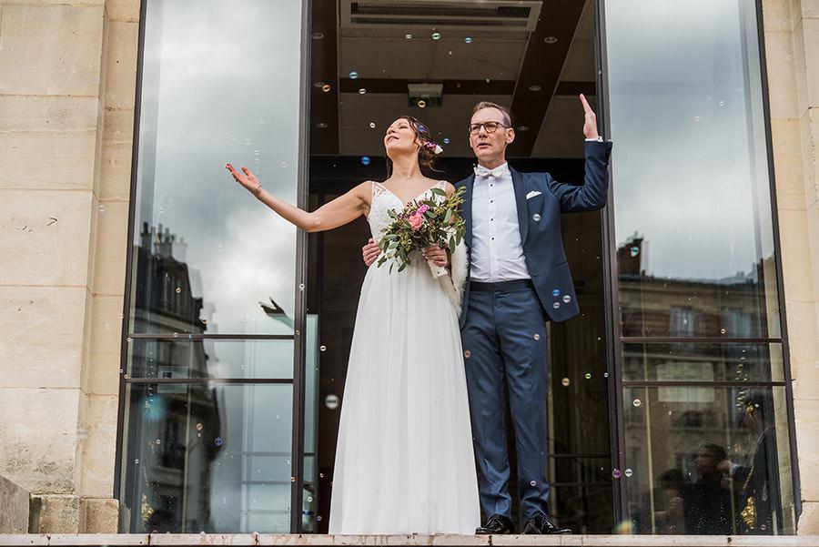 Mariage d'hiver à Paris 17
