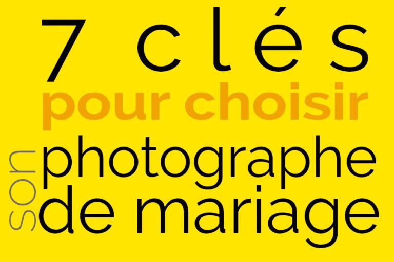 choisir sn photographe de mariage