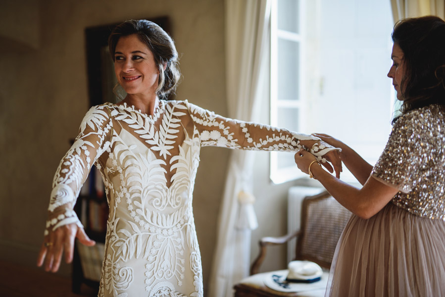 préparation de la mariée dans le Loiret